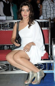Payal Ghosh Hot Thighs Show Pics in White Dress