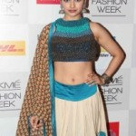 Prachi Desai Navel Show Photos At Lakme Fashion Week