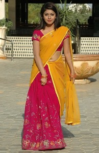 Prathista Sexy Navel Images in Half Saree