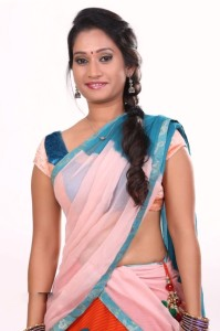 New Actress Priyanka Pallavi Hot Half Saree Images