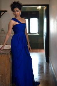 Radhika Apte Sexy Stills in Blue Dress