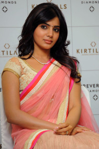 Samantha Hot Photos in Transparent Half Saree