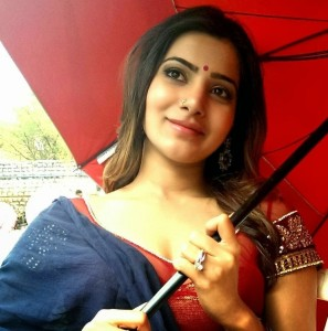 Actress Samantha Latest Cute Images At Shooting Spot