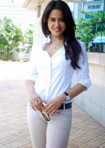 Sameera Reddy Sexy Photos in White Shirt