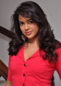 Actress Sameera Reddy Hot Pics in Red Dress