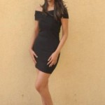 Sayali Bhagat Spicy Photos in Black Dress