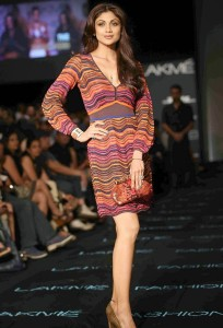Shilpa Shetty Stills At LFW 2013