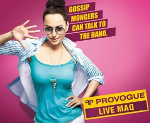 Actress Sonakshi Sinha Photoshoot For Provogue Ad