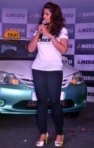 Sneha At Chennai Meru Cabs Launch Photos