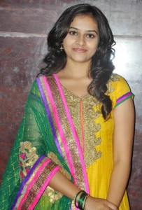 Sri Divya Photos in Churidar At Varutha Padatha Valibar Sangam Movie Press Meet