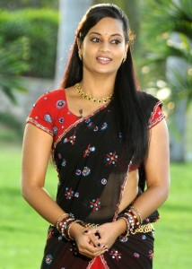 Suja Varunee Hot Navel Photos in Half Saree