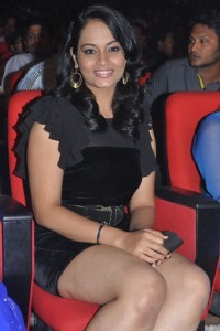 Actress Suja Varunee Hot Thighs Show Pics At Nagavalli Movie Audio Release Function