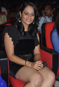 Suja Sexy Thighs Show Photos At Nagavalli Movie Audio Launch Event