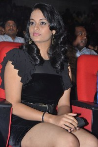 Suja Varunee Thighs Show Pictures in Balck Dress