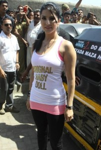 Sunny Leone At Ragini MMS 2 Movie Promotion Photos 10