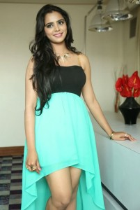 Actress Manasa Hot Thighs Show Images