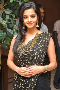 Vedika Latest Saree Pics At Thalaivan Tamil Movie First Look Launch