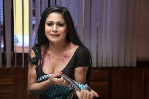 Veena Malik Cleavage Photos in Saree From Nagna Satyam Movie