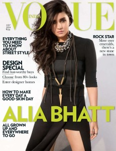 Alia Bhatt Vogue India Magazine July 2014 Photos