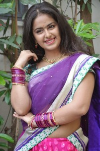 Uyyala Jampala Movie Actress Avika Gor Cute Images in Half Saree