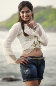 Actress Dimple Chopade Latest Hot Navel Show Images At Beach