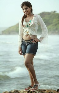 Dimple Chopade Latest Hot Thighs Show Pics At Beach