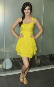 Actress Kriti Sanon Latest Sexy Pictures in Yellow Dress