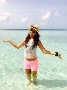 Preethi Rana Sexy Thighs Show Pictures At Beach