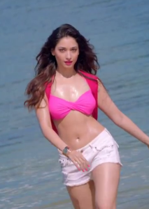 Tamanna Hot Photos in Bikini Top From Humshakals Movie
