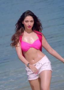 Tamanna Hot Photos in Bikini Top From Humshakals Movie