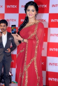 Anushka Photos At Intex Smartphone Launch