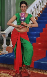 Kamna Jethmalani Hot Navel Show Photos From Chandrika Movie