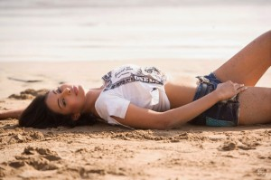 Simran Khan Latest Hot Photoshoot Photos At Beach