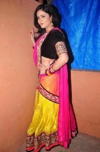 Sree Mukhi Sexy Half Saree Images
